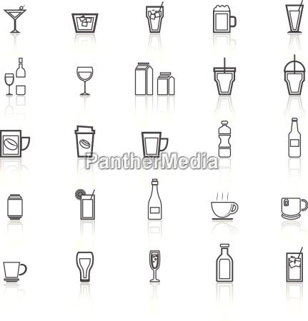 trinken leitungs icons mit reflektieren auf