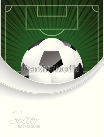 abstrakte fussball broschuere mit platzen ball