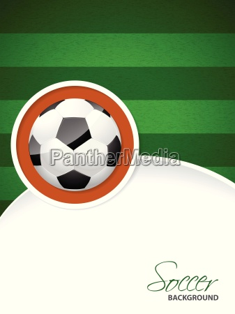 soccer brochure with soccer ball sticker