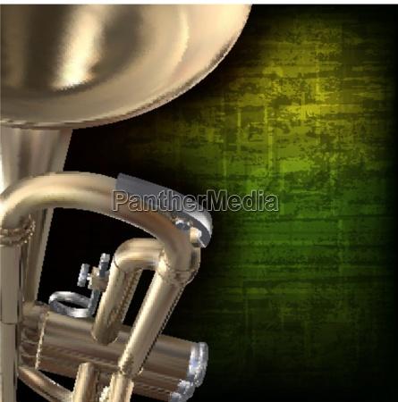 abstrakter grunge hintergrund mit trompete
