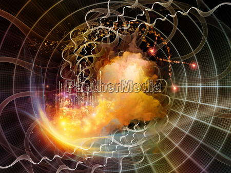 the growing abstract visualization
