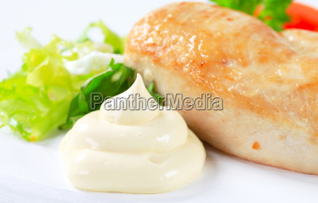 huehnerbrustfilet mit mayonnaise
