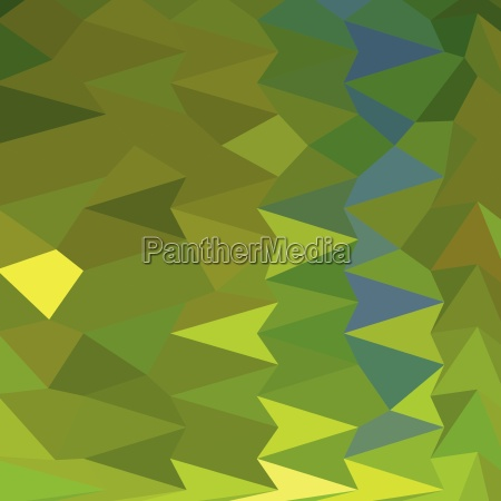 juni bud green abstract low polygon