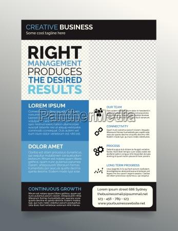 business flyer template a4 modern