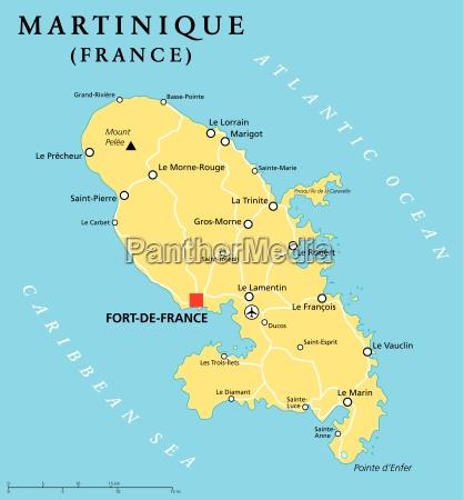 martinique political map
