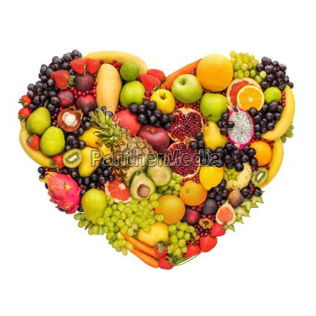 healthy fruity heart