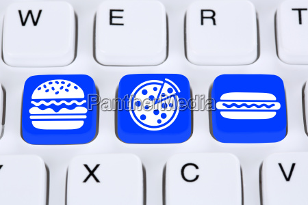 pizza hamburger fast food essen online