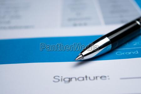 vereinbarung unterzeichnung eines vertrages