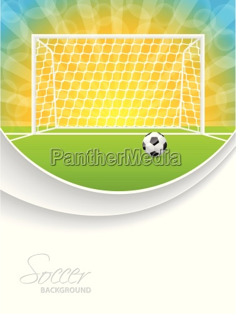 soccer brochure with ball gate and