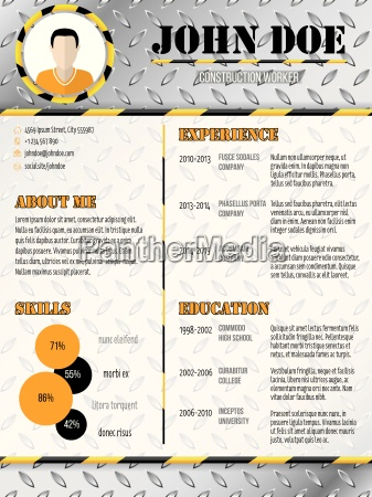 cool industrial design curriculum vitae resume