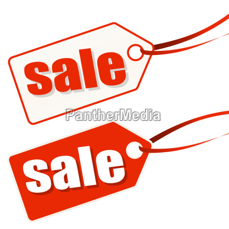 hangtag white red sale