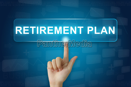 hand press on retirement plan button