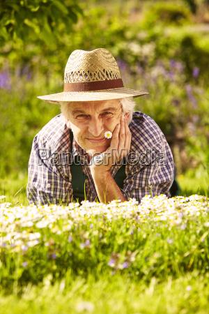 gardener meadow portrait
