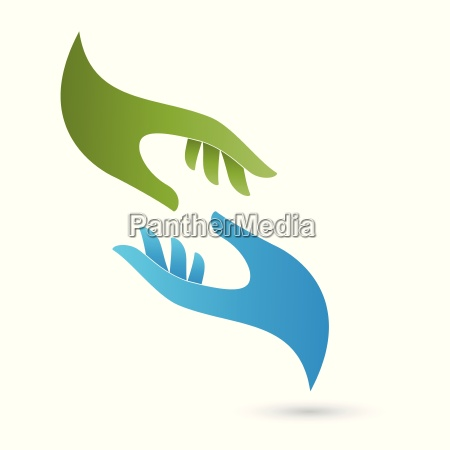 two hands logo pastoral care massage