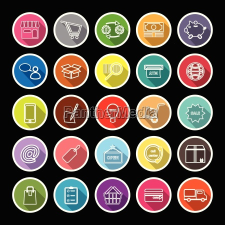 internet entrepreneur line flat icons with