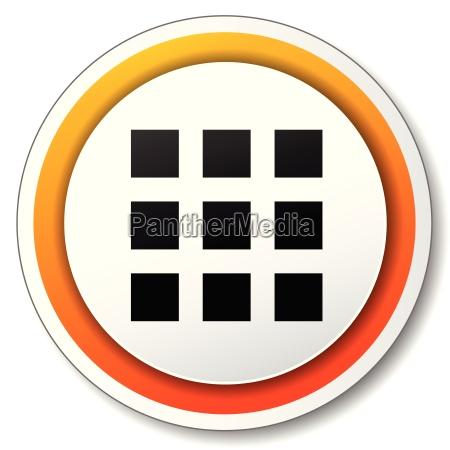 applications orange icon