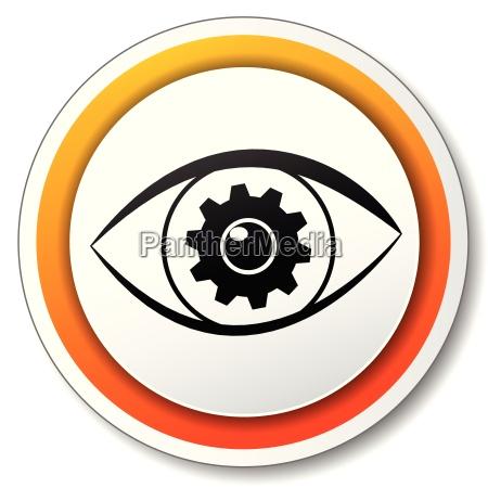 eye orange icon