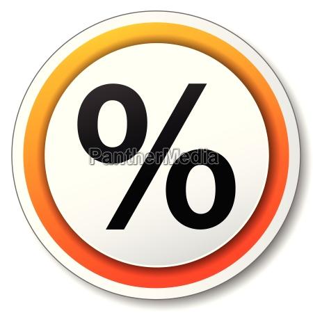 percentage orange icon