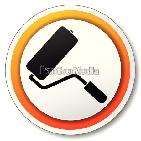 paint orange icon