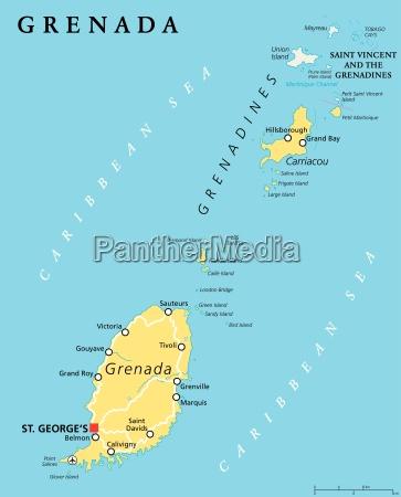 grenada politische karte