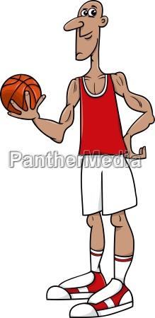basketball spieler cartoon abbildung