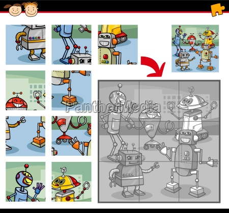 robots jigsaw puzzle game