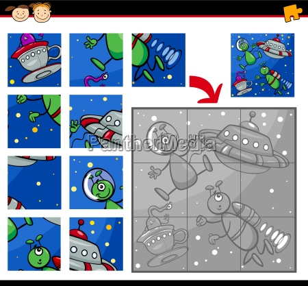 ufo aliens jigsaw puzzle game