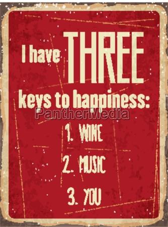 retro metal sign i have three