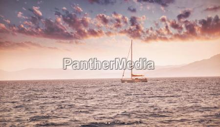 beautiful sunset over sea landscape