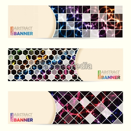 coole banner set mit abstrakten laser