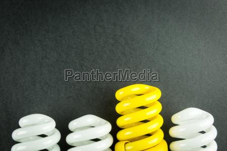 energy saving light bulbs business concept