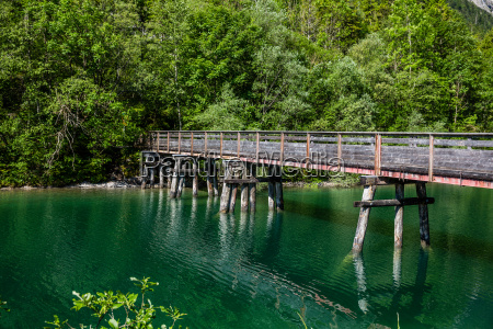 holzbruecke am plansee in OEsterreich