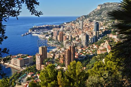 blick auf die stadt monaco franzoesische