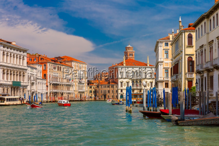 grand canal in summer sunny day