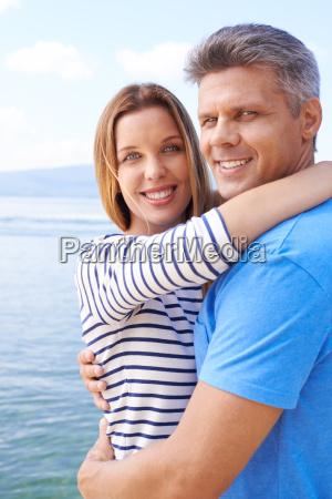 embracing couple
