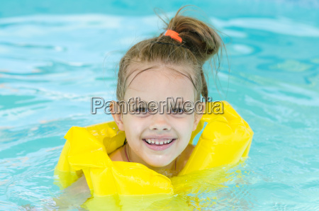 portrait of smiling girl in a