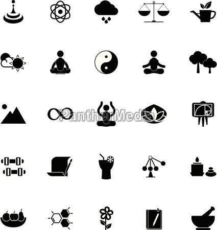 zen concept icons on white background