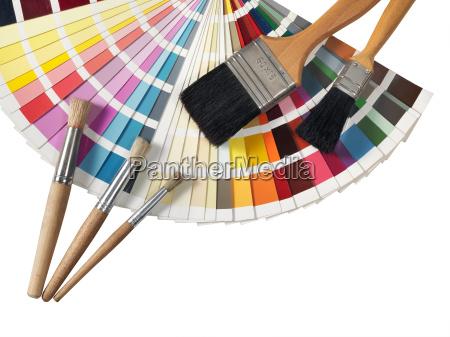 farbpalette und paintvroshes