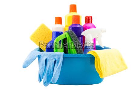 reinigung der werkzeuge in eimer auf