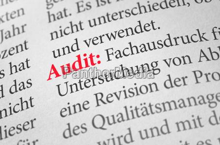 woerterbuch mit dem begriff audit