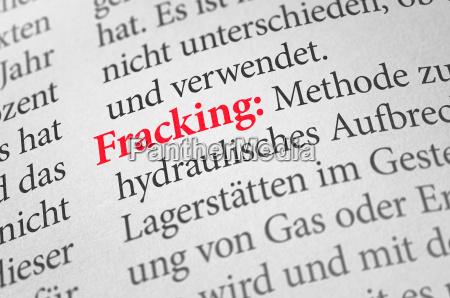 woerterbuch mit dem begriff fracking
