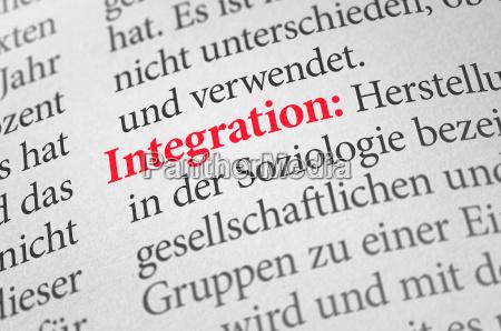 woerterbuch mit dem begriff integration