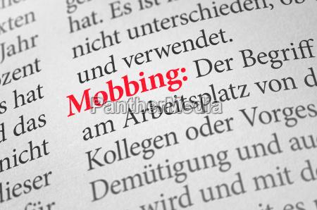 woerterbuch mit dem begriff mobbing