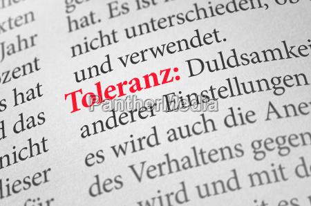 woerterbuch mit dem begriff toleranz