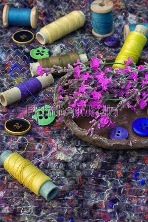faden textil spulen heftung naeharbeit haspel