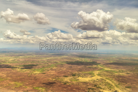 aerial view of the landscapes of