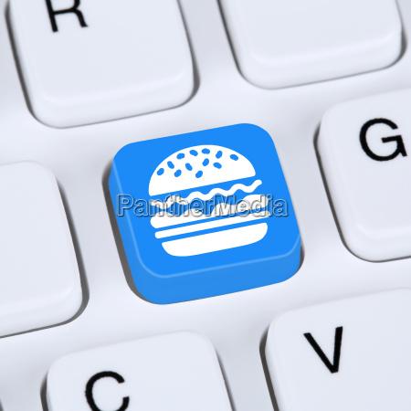 computer concept hamburger cheeseburger fast food