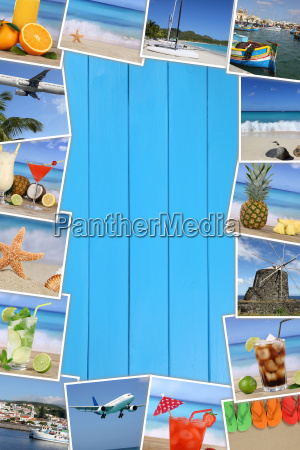 frame of photos of the holiday