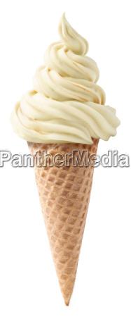 vanilla soft serve ice cream isolated