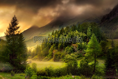 valley in dramatic mood